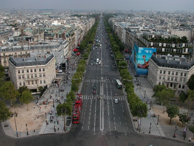 Paris 11 View Down Champs-Élysées From Arc de Triomphe